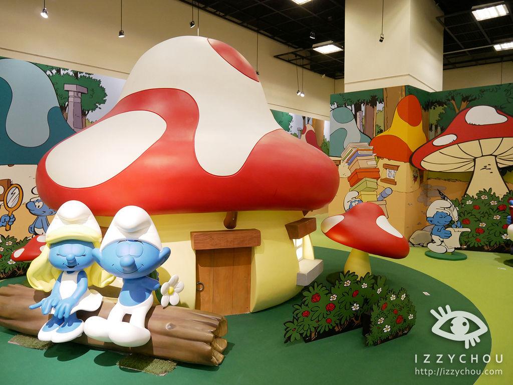 藍色小精靈 愛在17特展 蘑菇村