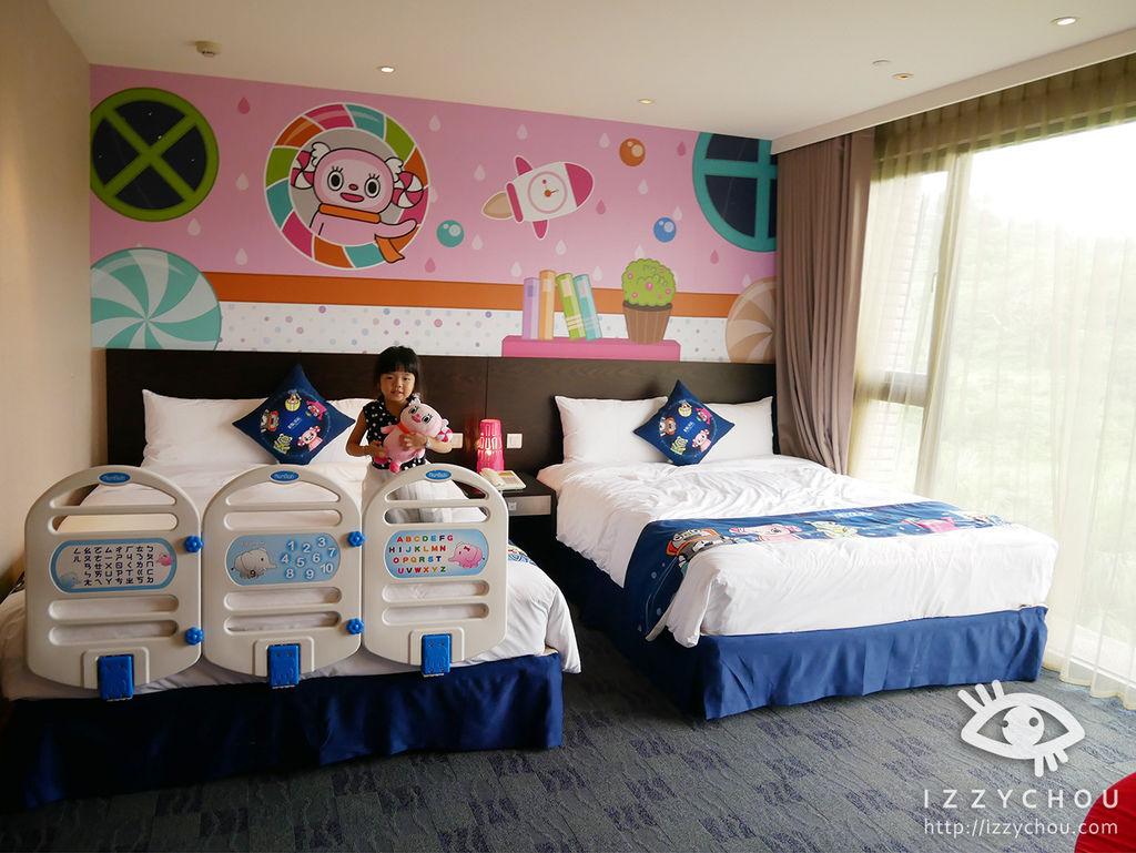 親子飯店推薦 煙波大飯店 星際太空艙兒童房 小小糖果風 房型