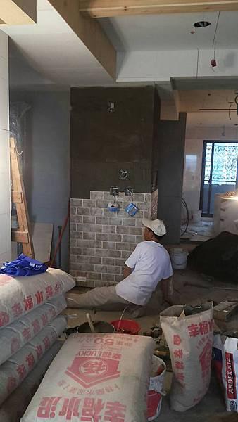壁面貼磚工程