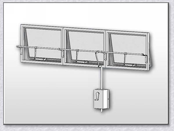 安檢消防.純手動推桿式自然排煙系統(A-2)系列