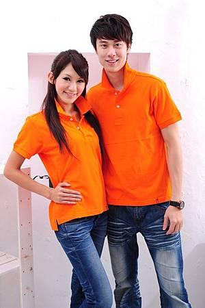 Polo衫-桔色