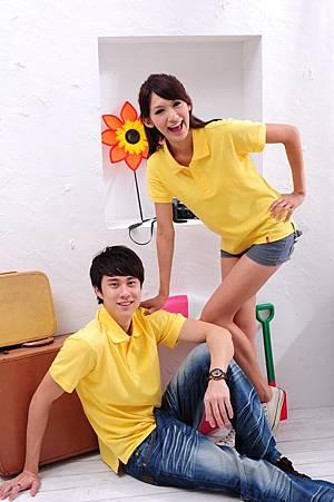 Polo衫-淺黃色
