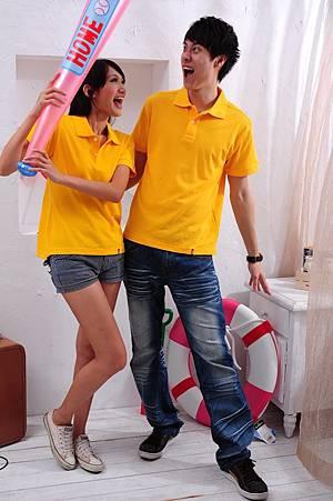 Polo衫-深黃色