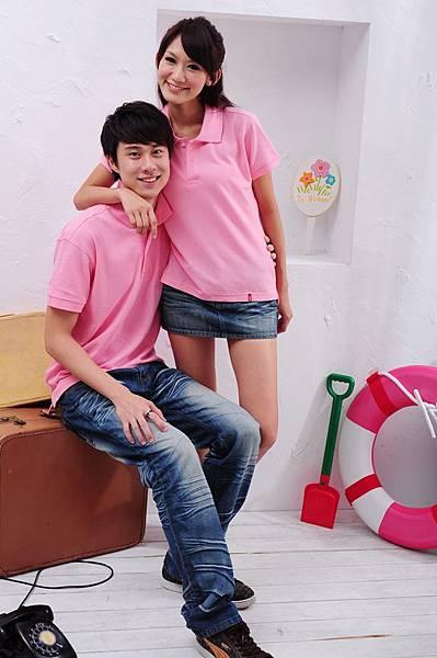 Polo衫-粉紅色
