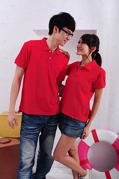 Polo衫-紅色