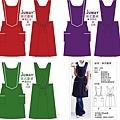 英式圍裙-棗紅&深紫&墨綠