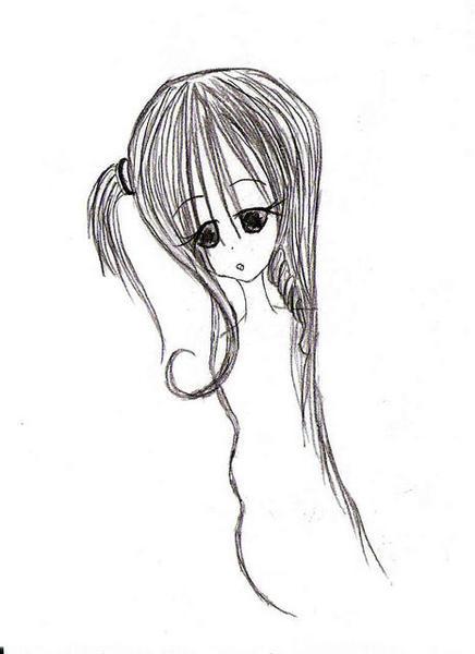 捲捲的髮尾
