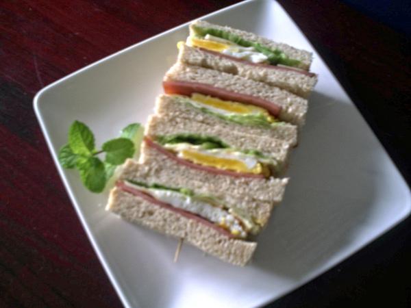 三明治系列火腿起司煎蛋