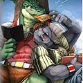 黑豹+鱷魚