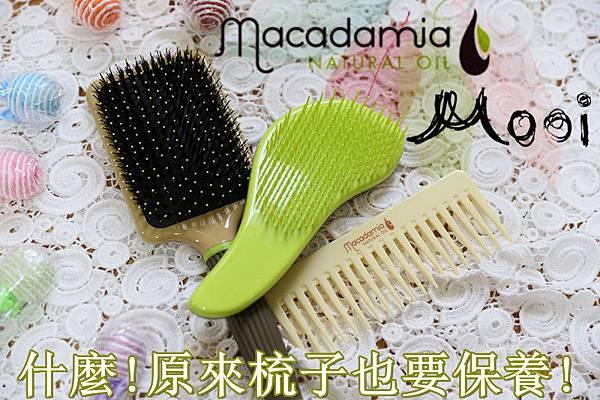 MOOI 亞堤斯 美國瑪卡油 瑪卡寬齒梳 瑪卡順髮梳 瑪卡鬃毛大板梳