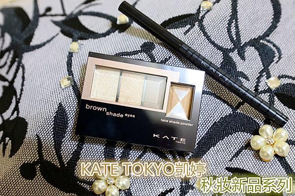 KATE TOKYO凱婷「秋妝新品系列」-3D棕影立體眼影盒 &極細持色眼線膠筆