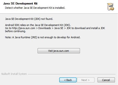 JDK not found