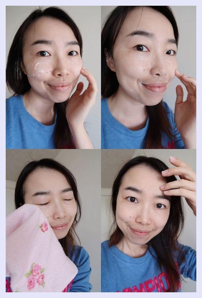 QBH洗顏霜上臉 使用過程.jpg