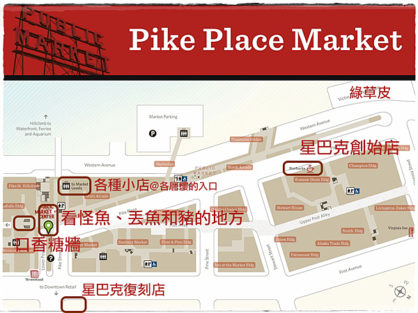 Pike Place Market Map