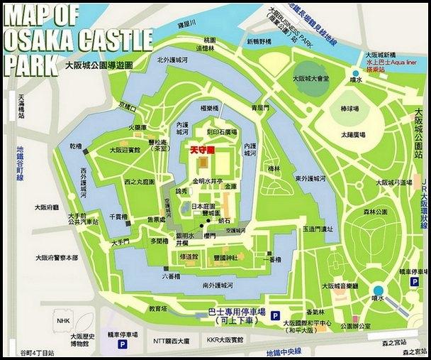大阪城公園導覽圖-f