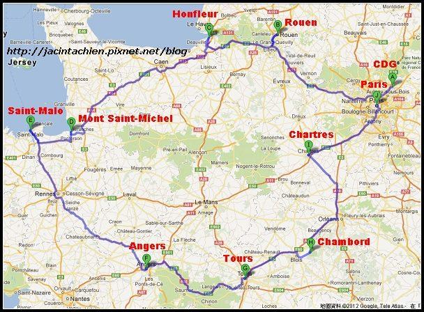 rutas de France-f
