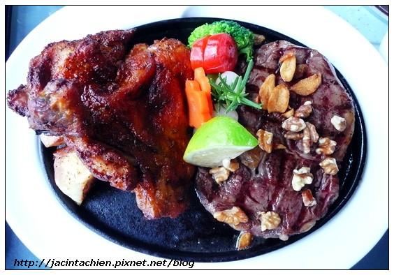 Tina廚房- 牛排和雞腿雙拼餐