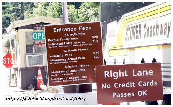 Yosemite優勝美地南邊入口