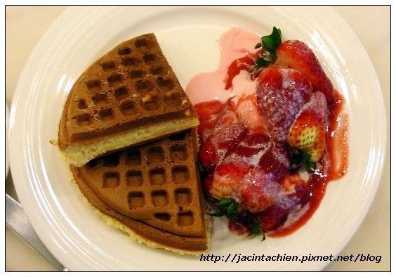 米朗琪咖啡館-草莓奶油鬆餅3