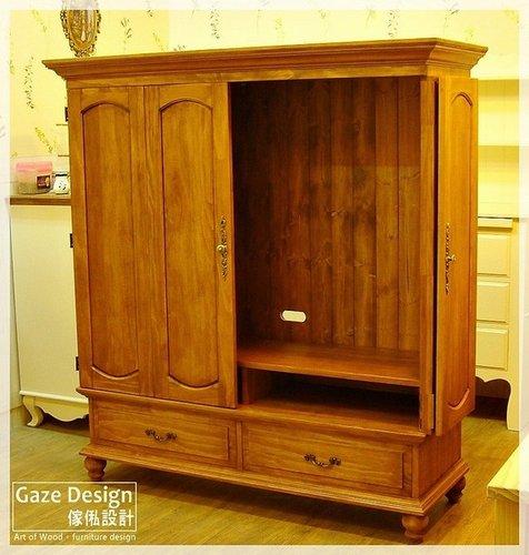 GAZE DESIGN傢俬設計-原木廂型電視櫃-2