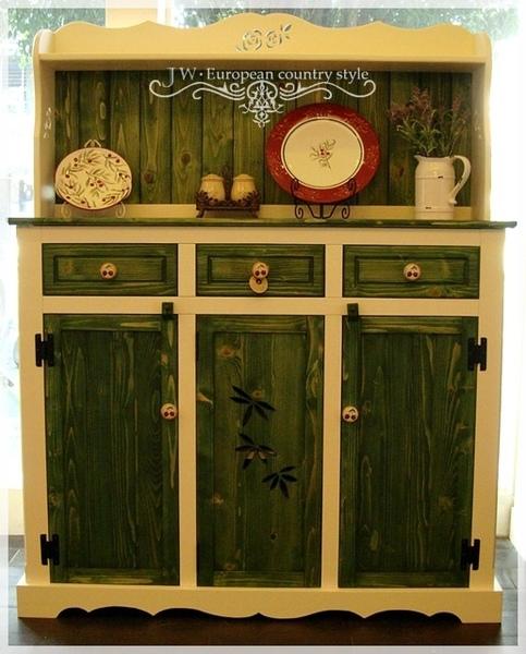 熊熊木工房-絕色趣緻備餐檯收納櫃