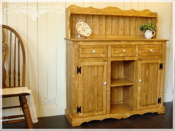 熊熊木工房-原木色備餐收納櫃