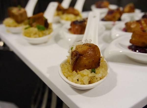 鴨肝蘑菇青蔥炒飯