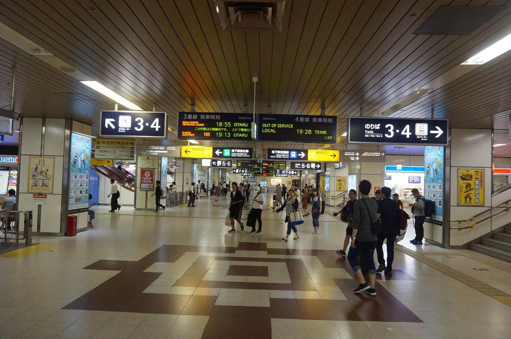 17晚上6點41分準時到達札幌車站.JPG