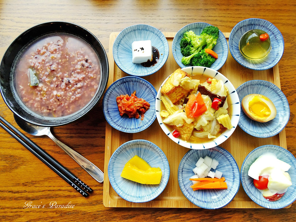 【宜蘭羅東美食】一日一粥九宮格早午餐,新開幕IG打卡餐廳,健康養生飲食