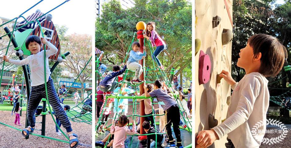 新店也有好玩又挑戰性高的攀爬遊戲場+成人攀岩牆,大小朋友一起來挑戰!
