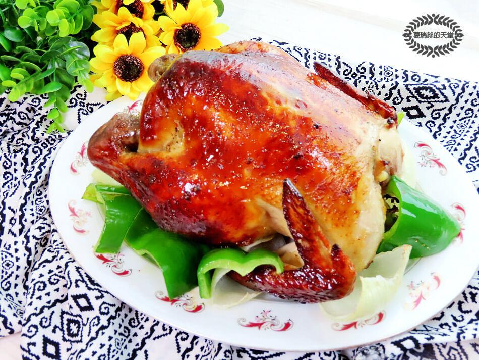 氣炸烤箱推薦-伊德爾-智能型氣炸烤箱(EL19010) -烤全雞.jpg