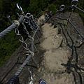 孝子山的陡峭石梯