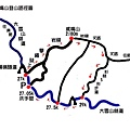 鳶嘴山登山地圖
