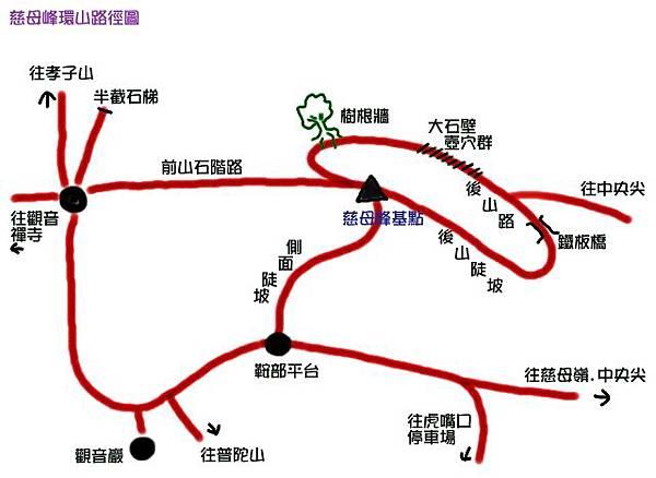 慈母峰登山地圖