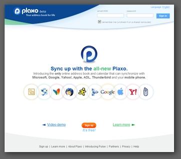 Plaxo - online calendar