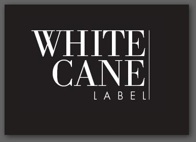 white cane label