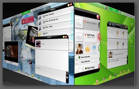 Jooce webos 3D桌面轉場動畫