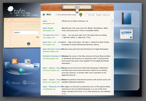 Tafiti 微軟 silverlight 搜尋引擎