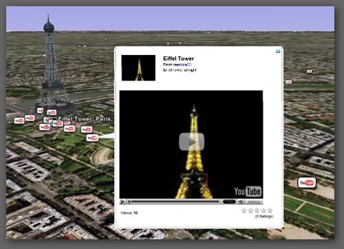 Google Earth中也能看到YouTube影片了
