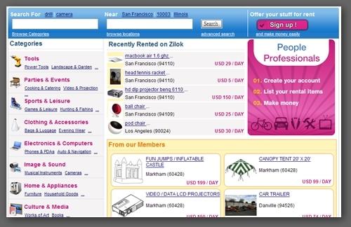 Zilok Homepage