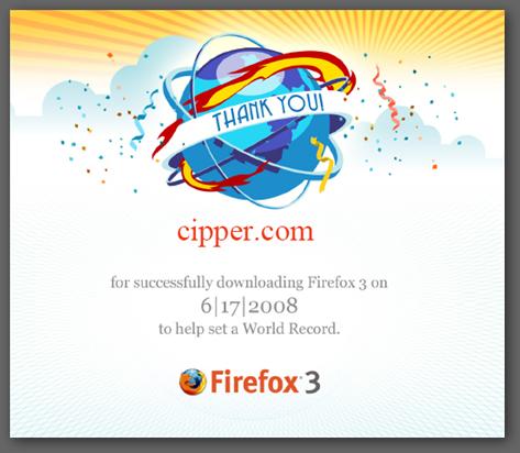 Firefox 3 下載 紀錄