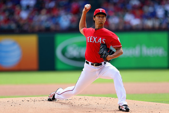 Yu+Darvish+Los+Angeles+Angels+Anaheim+v+Texas+RHQlWLGHVUQl