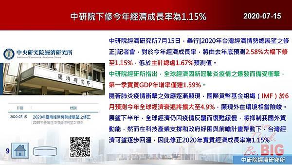 2020-07-15 中研院下修今年經濟成長率為1.15%.JPG
