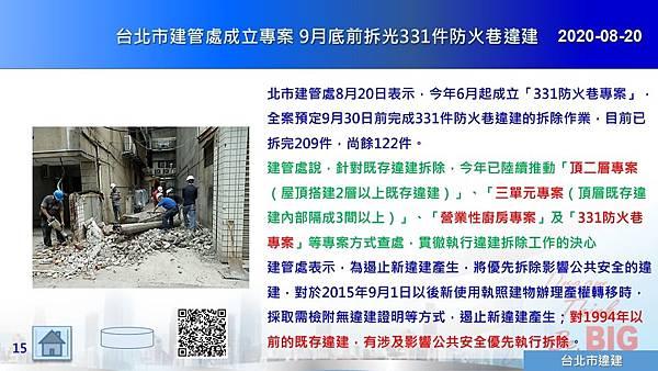 2020-08-20 台北市建管處成立專案 9月底前拆光331件防火巷違建.JPG