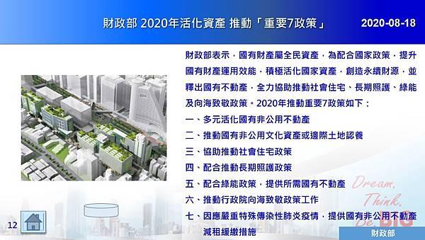 2020-08-18 財政部 2020年活化資產 推動「重要7政策」.JPG