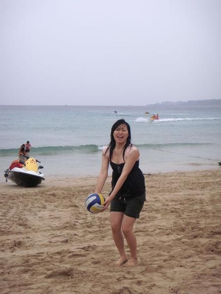 沙灘排球真好玩