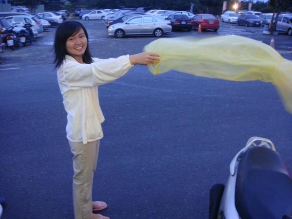 整理雨衣的star~還是很可愛
