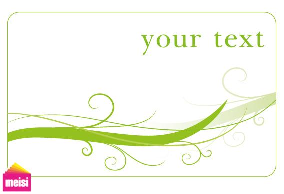 2011 年6月新增綠色環保風格商務名片