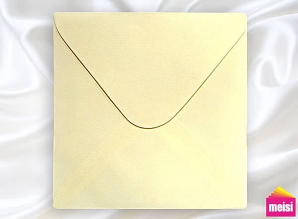 150-米骨紋信封-方型喜帖信封