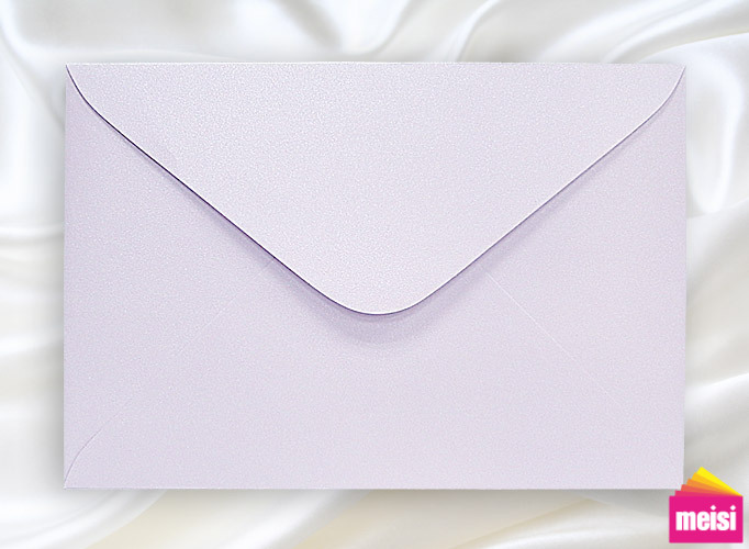 300-鑽紋珍珠紫邀卡信封-長